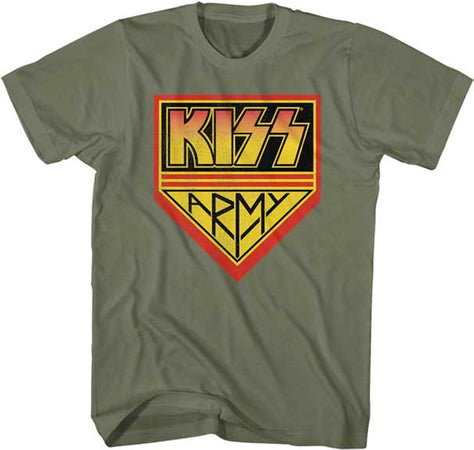 Kiss - Kiss Army - Green t-shirt