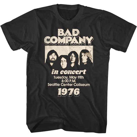 Bad Company - In Concert 1976 -  Black  t-shirt