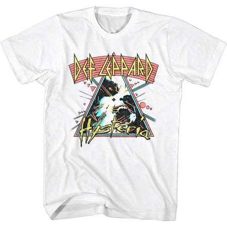 Def Leppard  - Arched Lines Hysteria - White t-shirt