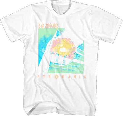 Def Leppard  - Bright Color Pyromania - White t-shirt