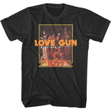 Kiss - Love Gun Japanese Text - Black t-shirt