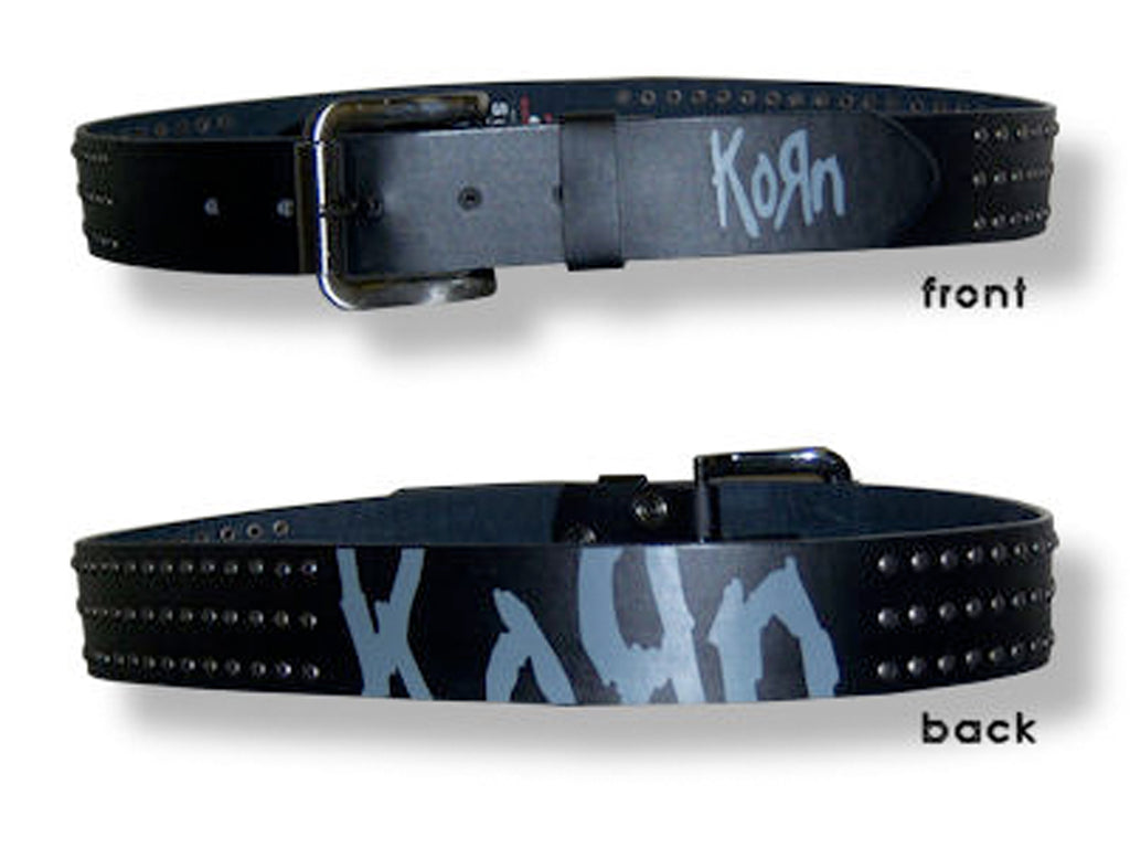 Korn - Logo  - Studded  Leather Belt