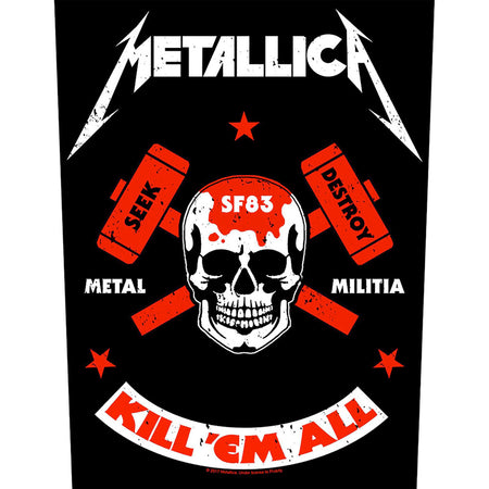 Metallica - Metal Militia - Back Patch