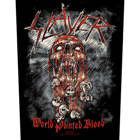 Slayer - World Painted Blood - Back Patch