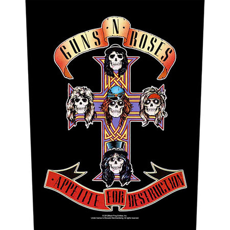 Guns N Roses - Appetite For Destruction - Back Patch