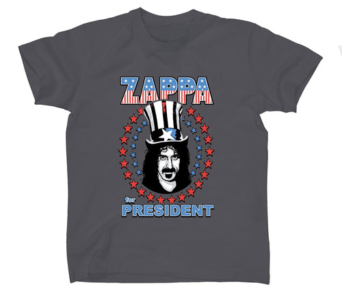 Frank Zappa - Zappa For President-Star Spangled - Charcoal t-shirt