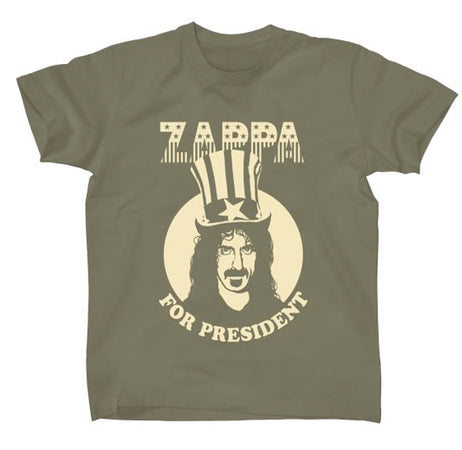 Frank Zappa - Zappa For President-Military Green t-shirt