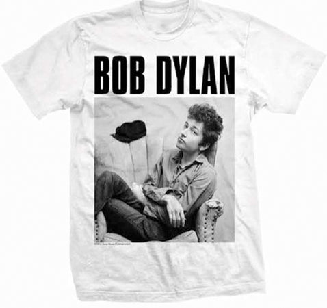 Bob Dylan - Sitting Photo - White t-shirt