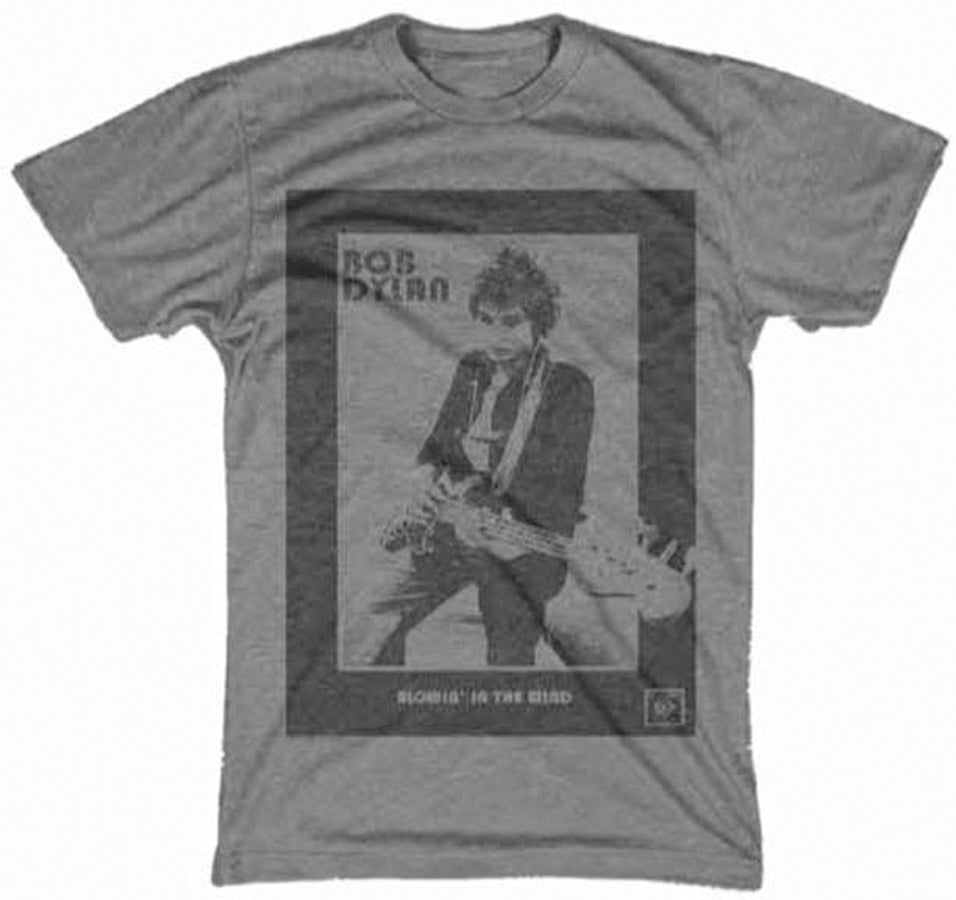 Bob Dylan - Guitar Photo - Charcoal t-shirt