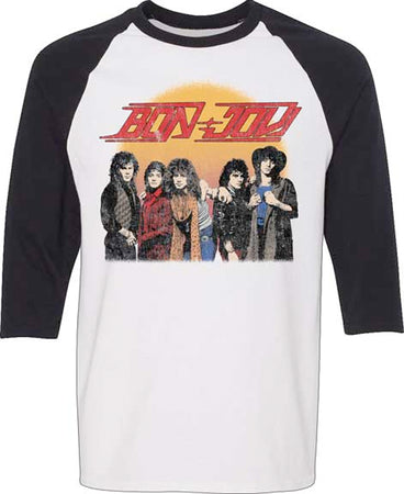 Bon Jovi - Group Shot - Raglan Baseball Jersey t-shirt
