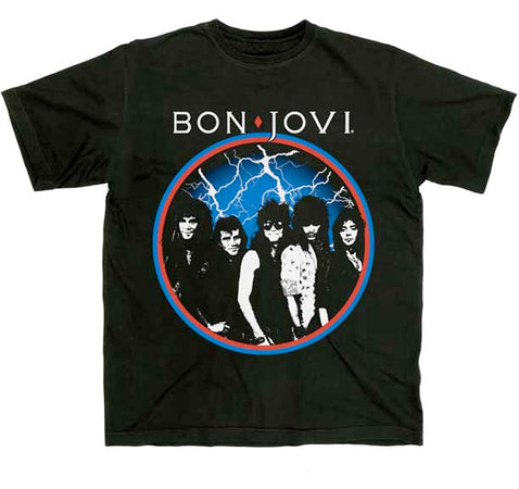 Bon Jovi - Classic Circle- Black t-shirt