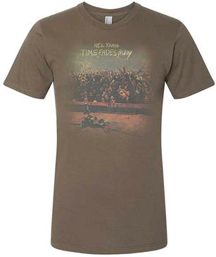 Neil Young - Time Fades Away  - Organic Cotton-Brown t-shirt
