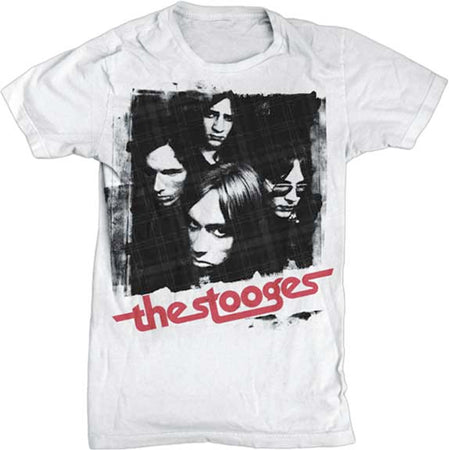 Iggy Pop - The Stooges - Group - White  t-shirt