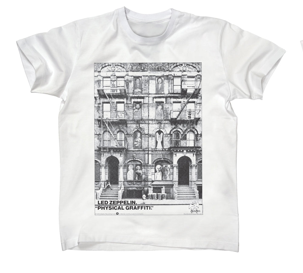 Led Zeppelin -  Physical Graffiti - White T-shirt