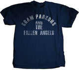 Gram Parsons Fallen Angels Navy Blue Lightweight t-shirt