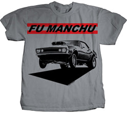Fu Manchu Muscle Car Silver t-shirt