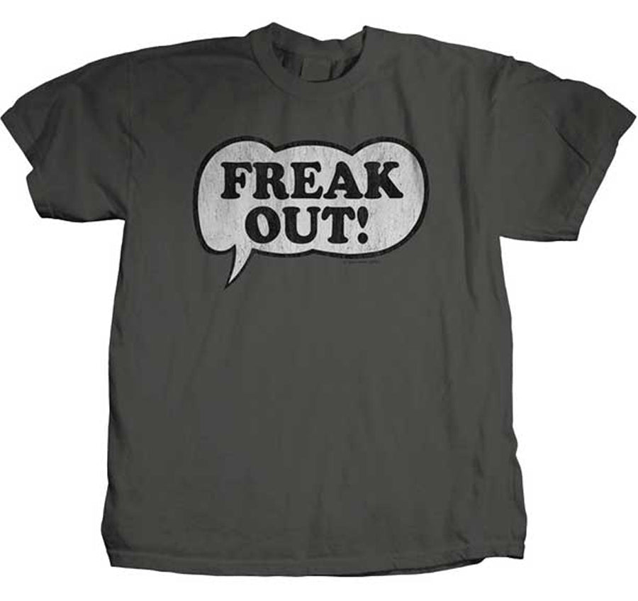 Frank Zappa - Freak Out Logo - Grey t-shirt