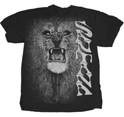 Santana White Lion on Black t-shirt