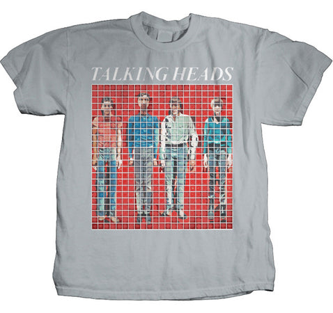 Talking Heads More Songs about Buildings and Food Silver-Premium Soft Cotton Print t-shirt