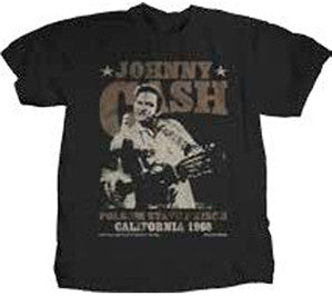 Johnny Cash  Outlaw Finger Lightweight Black t-shirt