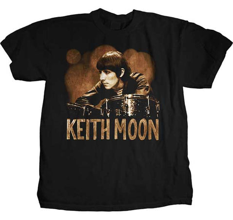The Who - Keith Moon-Ready Steady Go - Black t-shirt