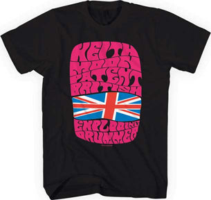 The Who - Keith Moon-Exploding Drummer - Black t-shirt