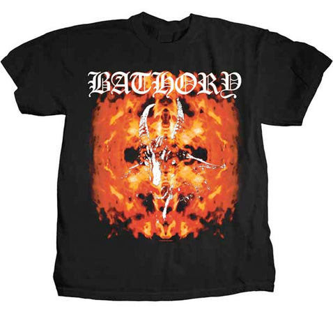 Bathory-Fire Goat-Black t-shirt