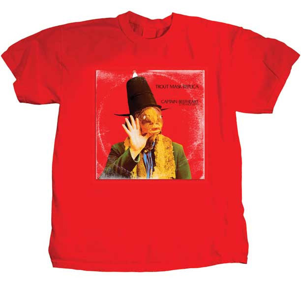 Captain Beefheart Trout Mask Replica Red t-shirt