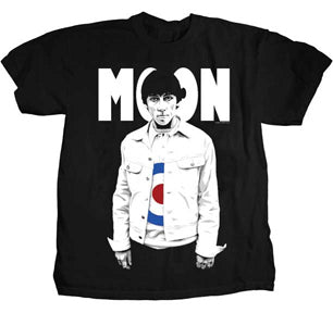 The Who - Keith Moon-Big Moon- Black t-shirt