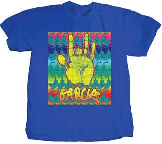 Jerry Garcia Blotter Royal Blue T-shirt