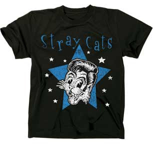 The Stray Cats Star Cat Black Lightweight T-shirt