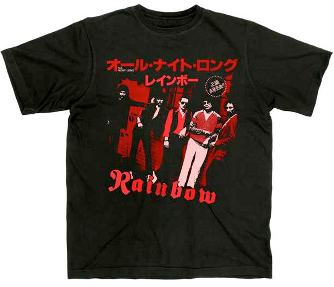 Rainbow Japanese All Night Long Black t-shirt