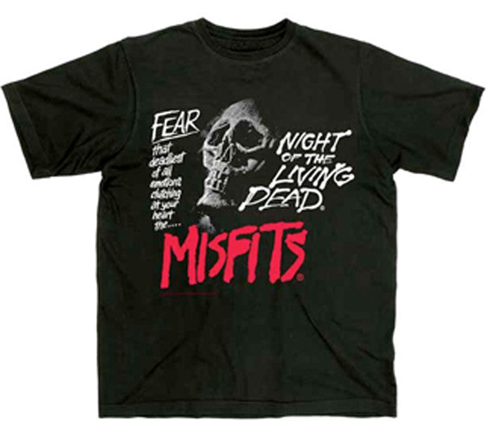 Misfits-Fear-Night Of The Living Dead-Black t-shirt