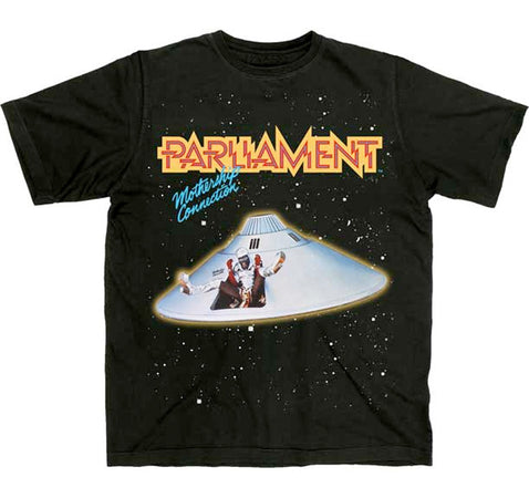 Parliament-Mothership Connection Black t-shirt