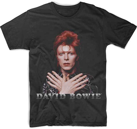 David Bowie Ziggy 73 Crossed Hands-Black Lightweight t-shirt