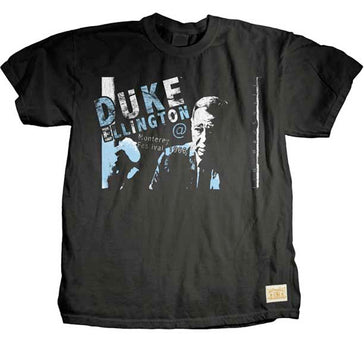 Duke Ellington - Blue Logo-Monterey Jazz Festival 1966 - Black T-shirt