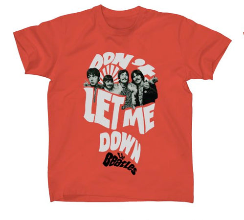 The Beatles - Don't Let Me Down - Red t-shirt