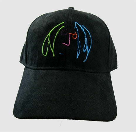 John Lennon- Imagine Face Embroidered Logo - Black OSFA Baseball Cap