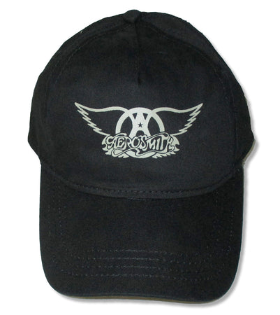 Aerosmith - Wings Logo - Black OSFA Baseball Cap