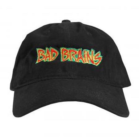 Bad Brains - Embroidered Logo - OSFA Black Strapback Baseball Cap