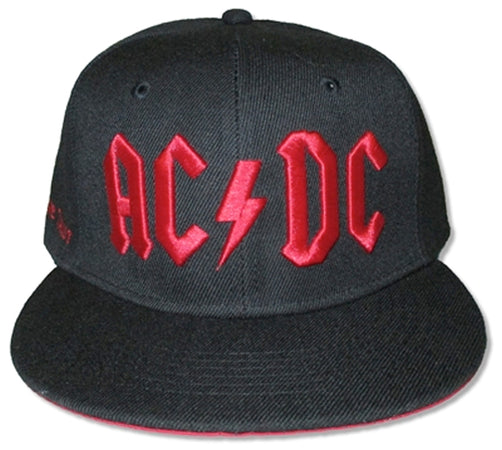 AC/DC -  Red 3D Logo -  Snap Back Baseball Cap