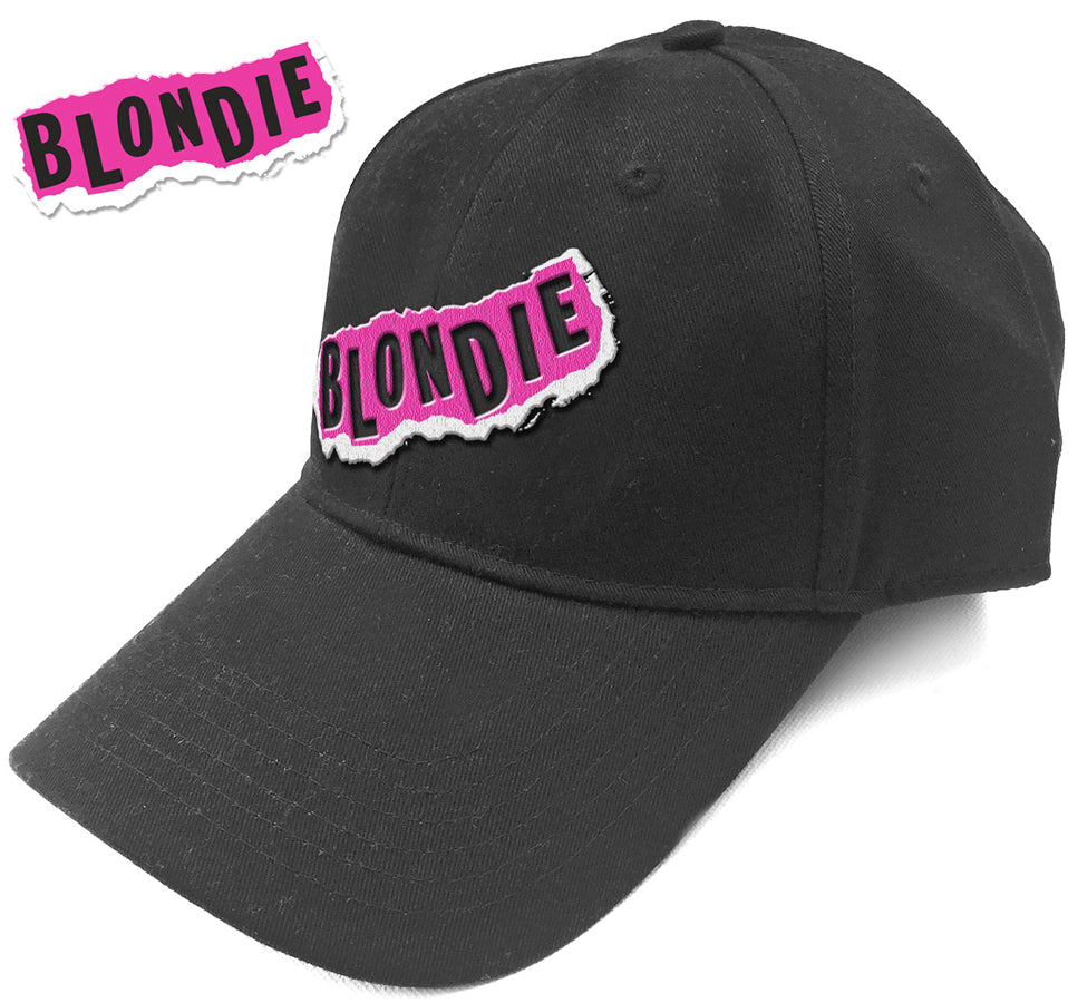 Blondie - Punk Logo - Black Baseball Cap