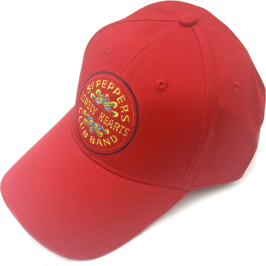 The Beatles - Sgt Pepper  - Red OSFA Baseball Cap