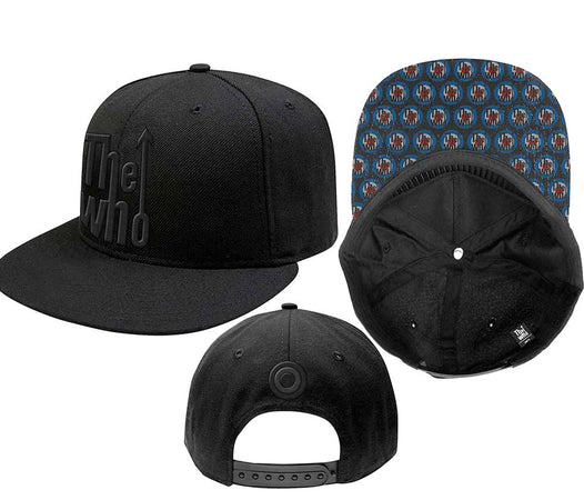 The Who  - Snapback-Arrow Logo - Black OSFA Baseball Cap
