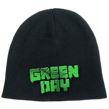 Green Day - Green Logo - Black Ski Cap Beanie