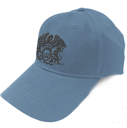 Queen - Crest Logo - Denim Blue Baseball Cap