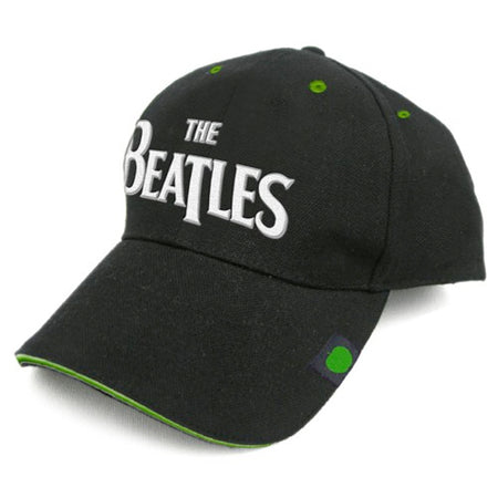 The Beatles - Logo with Green Apple Highlights - Black Baseball Cap