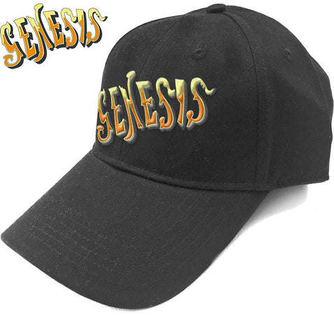 Genesis - Orange Classic  Logo - Black OSFA Baseball Cap