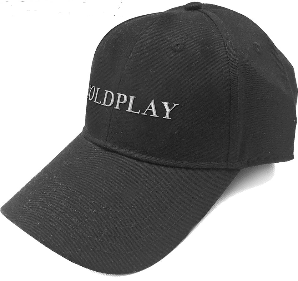 Coldplay - White Logo - Black OSFA Baseball Cap