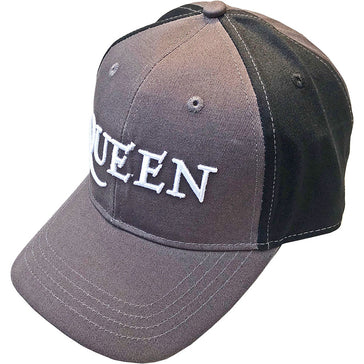 Queen -  Logo - 2 Tone-Charcoal Grey and Black OSFA Baseball Cap